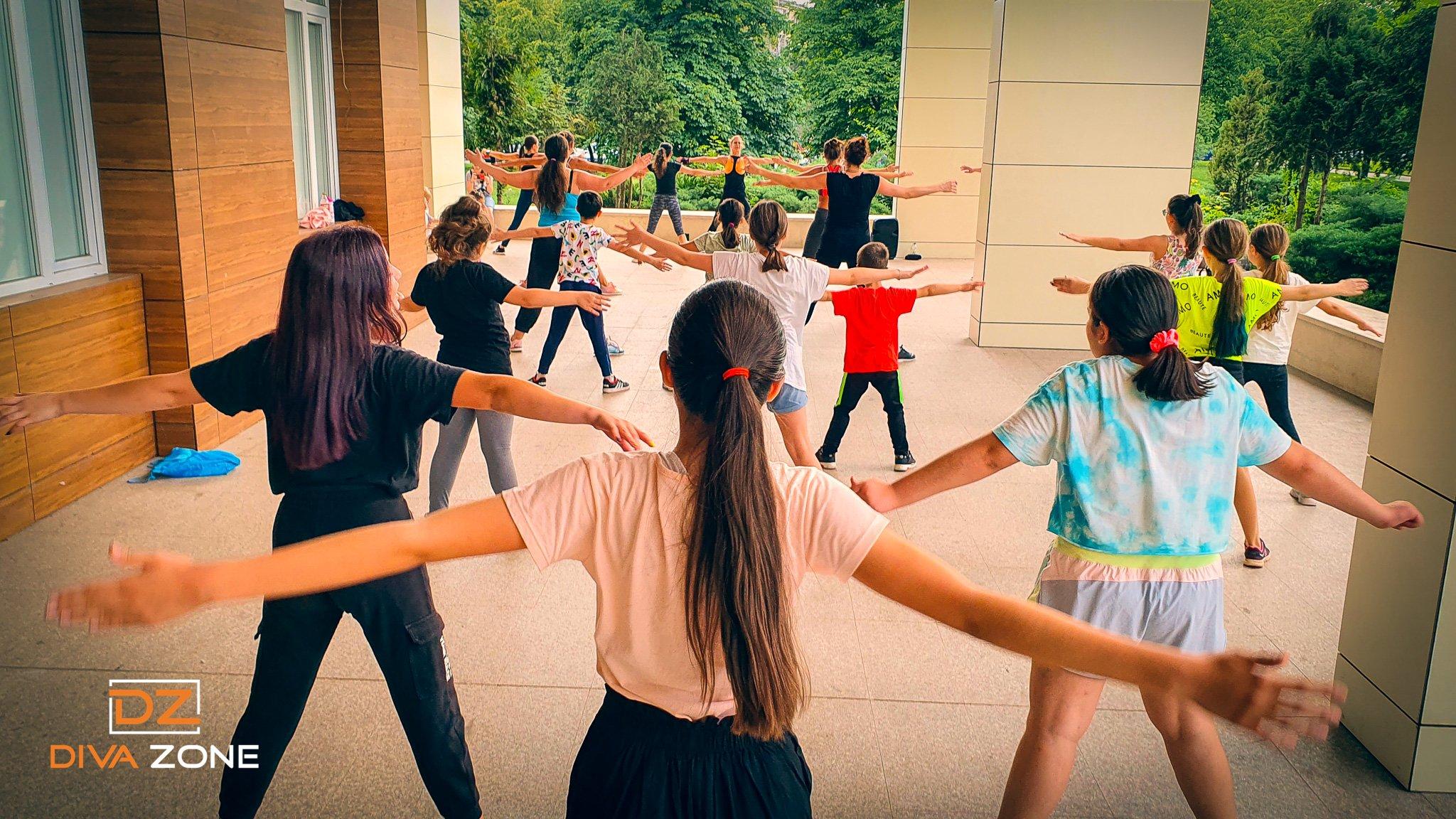 Тренировка на открито в парк Хиподрума