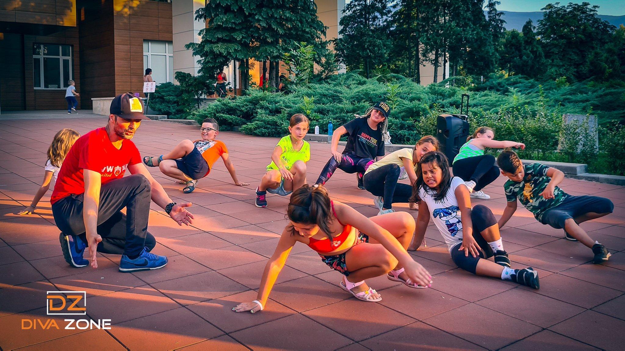 Танци и спорт за деца в парк Хиподрума